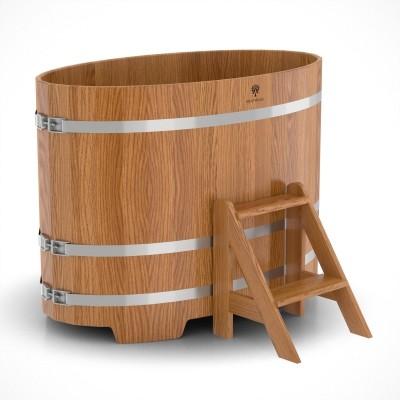 купель из дуба овальная для бани сауны 168х102 см за 89100 руб доставка москва