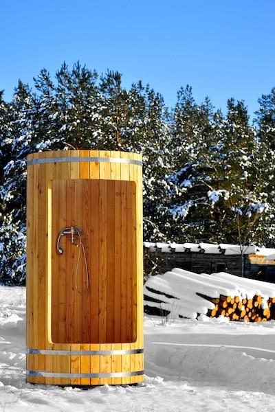 Деревянная душевая кабина из кедра