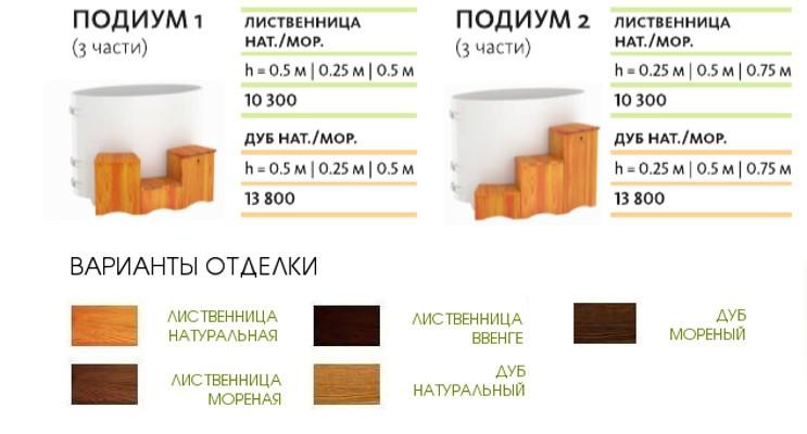 лесенка для КУПЕЛЬ УГЛОВАЯ ИЗ ЛИСТВЕННИЦЫ 1,31Х1,31 H=1,0