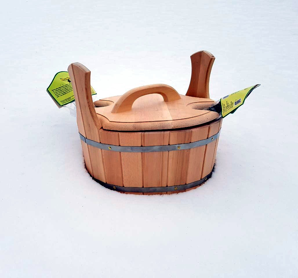 запарник для бани из сосны с крышкой  купить с доставкой в Москве